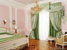 Як підібрати штори в інтер`єр з рожевими шпалерами: Фото 1