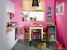 Як підібрати штори в інтер`єр з рожевими шпалерами: Фото 2