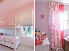 Як підібрати штори в інтер`єр з рожевими шпалерами: Фото 3