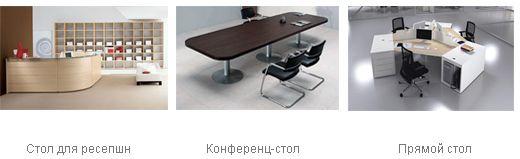 Офісний стіл (для ресепшн, конференц-стіл, прямий стіл)