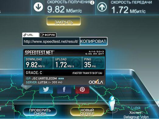 Яка швидкість інтернету у мене?