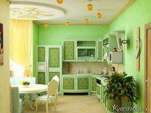 Зелені шпалери: які штори підкреслять їх ?: Фото 1